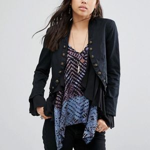 Free People Romantic Ruffles Jacket